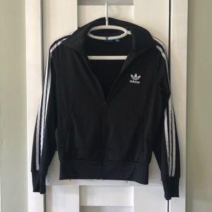 Black adidas zip up track jacket